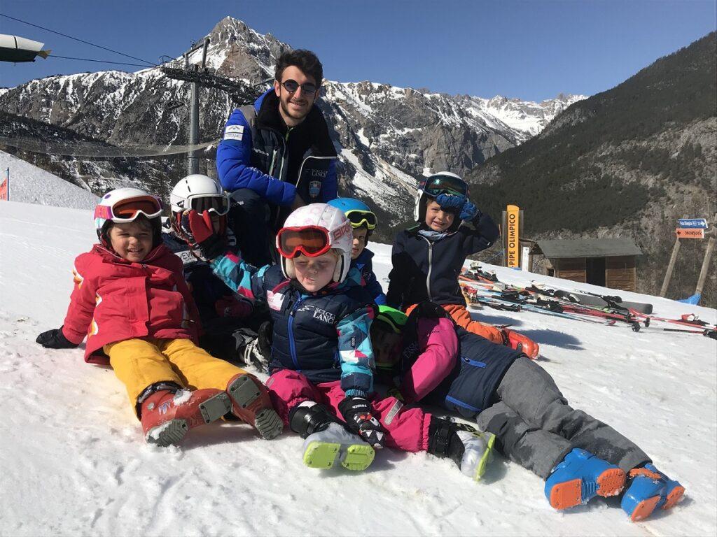 bambini scuola sci Lancia Bardonecchia